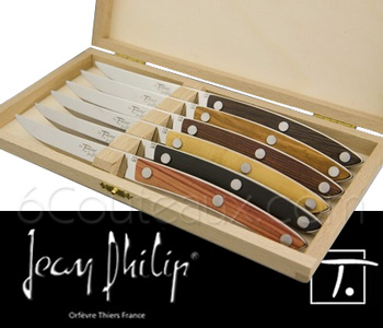 HIGH-TECH Jean-Philip Orfèvre Le Thiers knives, Le Thiers Varied woods steak knives Box