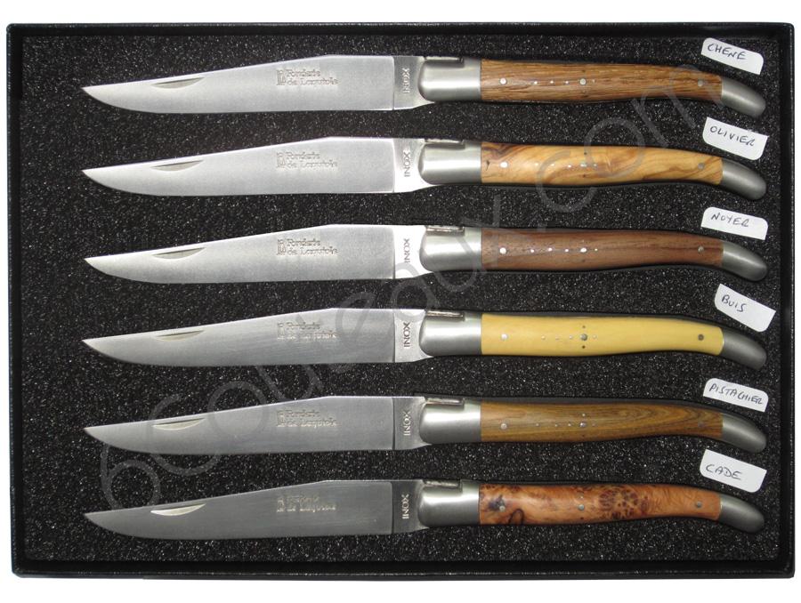 Laguiole Inox Steak Knives Box 6 Laguiole Steak Knives