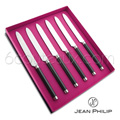 CARBONE 1924 DESIGN - Box of 6 table knives Jean-Philip Goldsmith - forged stainless steel blades