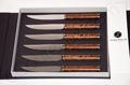 SIGNATURE Collection Jean-Philip Orf�vre - Box of 6 steak knives Thuya Burl handles