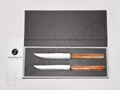 SIGNATURE Collection Jean-Philip Orf�vre -Olive handles- Box of 2 steak knives