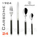 CARBONE 1924 DESIGN - Cutlery Set of 24 units Jean-Philip Goldsmith  6 table knives, 6 forks, 6 potage spoons, 6 teaspoons
