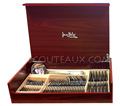 Jean-Philip Goldsmith BAGUETTE - Woodden box Cutlery Set of 49 pieces BRIGHT 18/10 stainless steel
