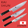 KAI japanese knives - SHUN series - chefs knives - Damascus steel blade