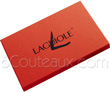 Box 6 laguiole steak knives precious wooden handle  SATIN stainless steel blade and bolsters
