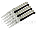Gift box 6 Laguiole Steak knives - Forge de Laguiole - 3 BLACK and 3 WHITE acrylic mineral handle  designer : Olivier GAGNERE