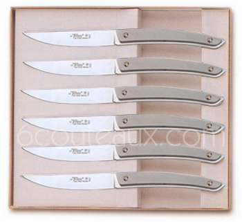 HIGH-TECH Claude Dozorme Le Thiers knives, Box 6 Le Thiers steak knives
