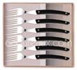 Gift box 6 stainless steel LE THIERS High-Tech forks Claude Dozorme with BLACK aluminum handle