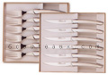 Boxes of 6 LE THIERS steak knives + 6 forks  Claude Dozorme full stainless steel  suitable for dishwasher