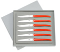 Box with 6 Forge de Laguiole RED handle knives designer : Studio Design W. from Wilmotte and Associated study