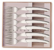 Box 6 LE THIERS steak forks Claude Dozorme full bright stainless steel  suitable for dishwasher